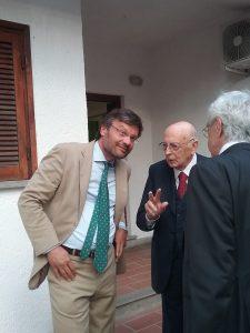 Il presidente dell'APE presenta il suo volume su Paolo Baffi con Giorgio Napolitano